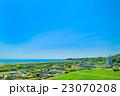 一宮町 東浪見田舎の風景を空撮 23070208