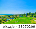一宮町 田舎の風景を空撮 23070209
