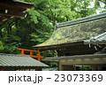木が生い茂る神社 23073369