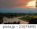 多摩川 川 夏の写真 23074895