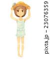 女の子 子供 人物のイラスト 23076359