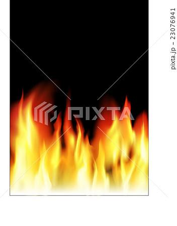 リアルな燃え上がる炎のイラスト編集可能のイラスト素材 23076941