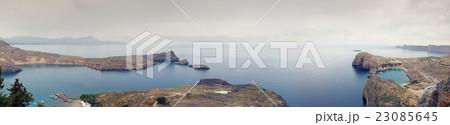 Lindos bay and St. Paul's Bay panorama 23085645