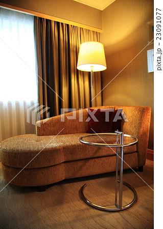 Modern sofa, table, lamp interiorの写真素材 [23091077] - PIXTA