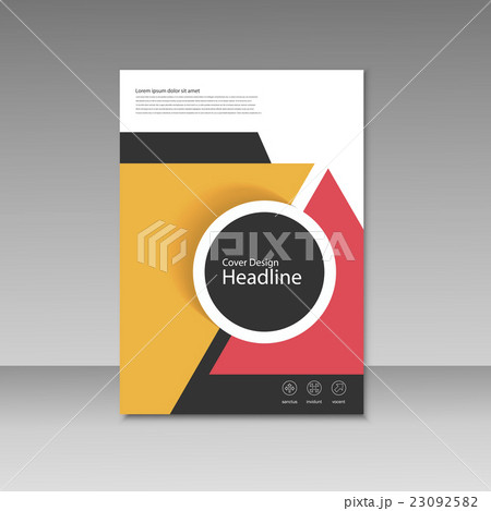 vector cover design for brochure templateのイラスト素材 23092582