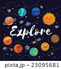 Explore. Fantastic childish background in bright 23095681