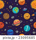 Seamless space pattern background with planets 23095685