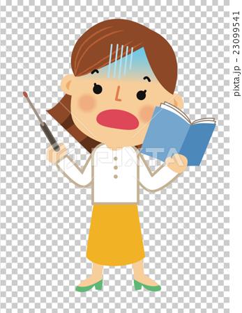 人物 働く女性 教員 23099541