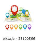 地図 pin ピンのイラスト 23100566