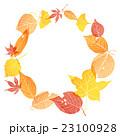 フレーム 落葉 落ち葉のイラスト 23100928