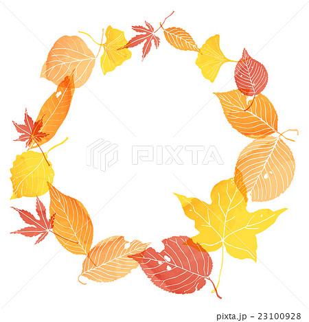 フレーム 落葉のイラスト素材 23100928 Pixta