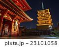 浅草寺 寺 ライトアップの写真 23101058