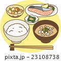 和食 食べ物 一汁三菜のイラスト 23108738