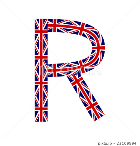 Letter R made from United Kingdom flagsのイラスト素材 [23109994] - PIXTA
