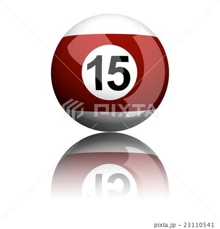 Billiard Ball Number 15 3D Renderingのイラスト素材 [23110541] - PIXTA