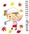 ゴルフ 女性 スポーツのイラスト 23113073