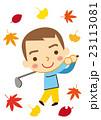 ゴルフ 男性 スポーツのイラスト 23113081
