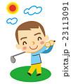 ゴルフ 男性 スポーツのイラスト 23113091