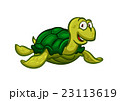 Cartoon swimming sea turtle character 23113619