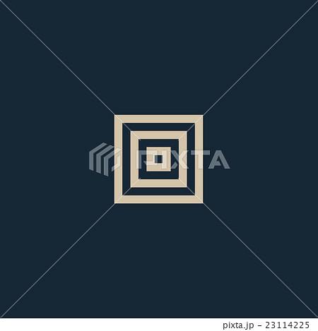 Unusual geometric letter O. Architecture vectorのイラスト素材 ...