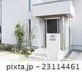 住宅 玄関 外構 植栽 エクステリア アプローチ サイディングと色のトーン統一 23114461