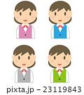 ユニフォーム 事務員 ビジネスウーマンのイラスト 23119843