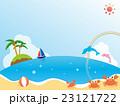 海のイラスト 景色 風景 23121722
