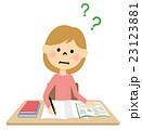 女の子 小学生 勉強のイラスト 23123881