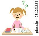 女の子 小学生 勉強のイラスト 23123883