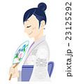 浴衣を着た女性の横顔 23125292