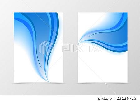 smooth flyer template designのイラスト素材 23126725 pixta
