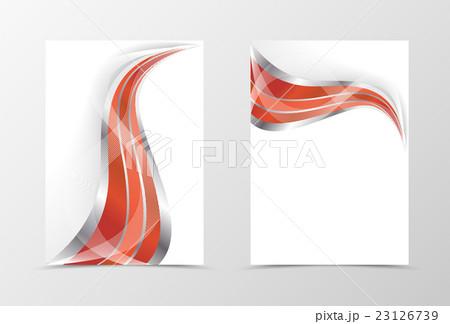smooth flyer template designのイラスト素材 23126739 pixta