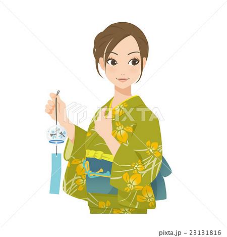 がんばるオンナノコ 浴衣+風鈴 23131816