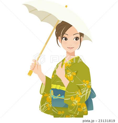 がんばるオンナノコ 浴衣+日傘 23131819