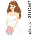 花嫁 ウェディングドレス 新婦のイラスト 23132097