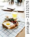 トーストの朝食 23132576