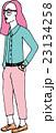 ピンクヘアーの女の子 Pink hair girl 23134258