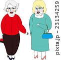 ファッション好きのお年寄り Two fashionable ladies 23134259