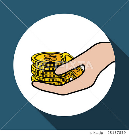 coin icon design , vector illustrationのイラスト素材 [23137859] - PIXTA