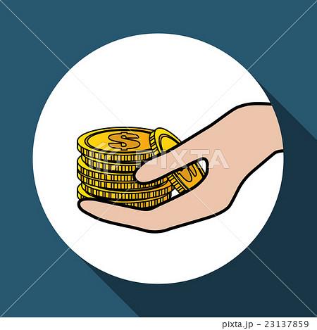 coin icon design , vector illustrationのイラスト素材 [23137859] - PIXTA