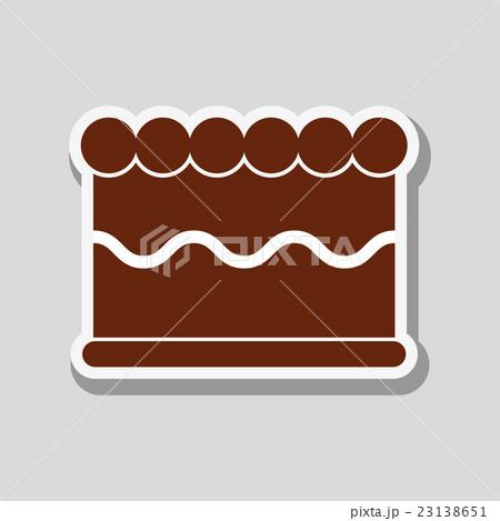 cake icon design , vector illustrationのイラスト素材 [23138651] - PIXTA