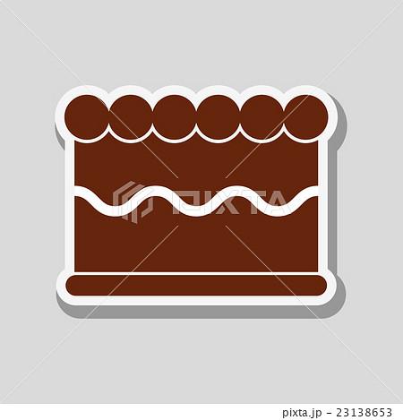 cake icon design , vector illustrationのイラスト素材 [23138653] - PIXTA