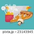キッチン 台所 ピザのイラスト 23143945