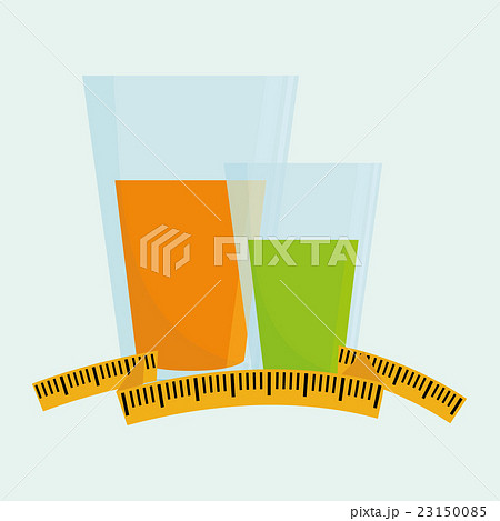 Flat illustration of healthy lifestyle designのイラスト素材 [23150085] - PIXTA