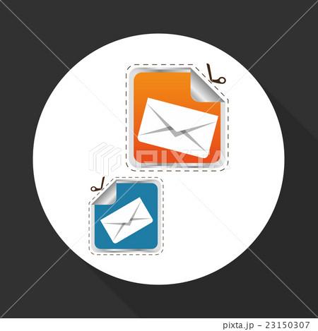 Flat illustration of free delivery designのイラスト素材 [23150307] - PIXTA