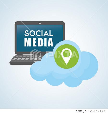 Social media design. smartphone iconのイラスト素材 [23152173] - PIXTA