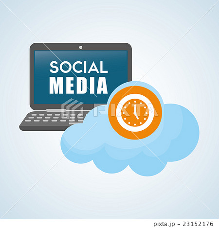 Social media design. smartphone iconのイラスト素材 [23152176] - PIXTA