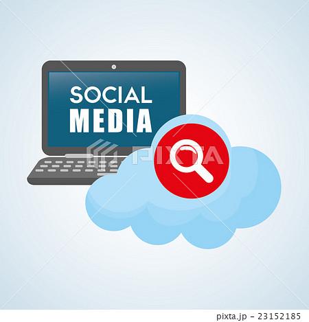Social media design. smartphone iconのイラスト素材 [23152185] - PIXTA