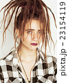 real caucasian woman with dreadlocks hairstyle 23154119