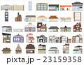 街の建物枠あり 23159358